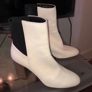 Dolce Vita White Ankle Booties